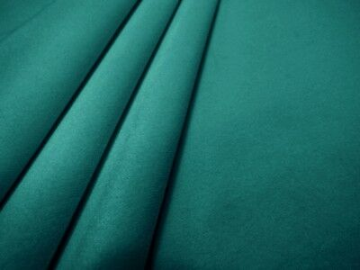 Clarke & Clarke Alvar Teal Blue Velvet Fabric Curtains Furnishing Upholstery