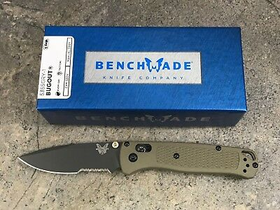Benchmade Bugout Manual Folding Knife Lightweight & Slim ComboEdge 535SGRY-1
