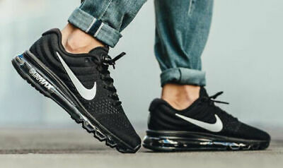Nike Air Max 2017 Running Shoes Black Anthracite White 849559-001 Men's NEW