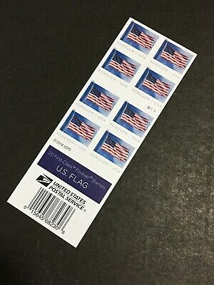 USPS New Us Flag Forever Stamps Book Of 20 $11.00 Face Value B1111 Print