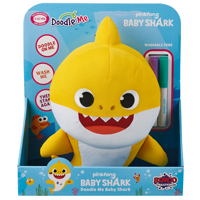 Pinkfong Baby Shark Doodle & Wash Plush Doll - Baby Shark