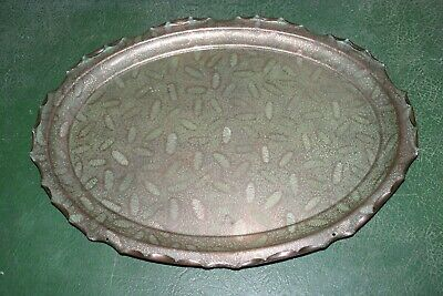 Antique Arts & Crafts Acanthus design copper tray by Townshends Ltd 179131
