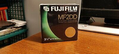 "Box Of 10 Fujifilm Mf2Dd Floppy Discs 1.44 Mb 3.5"" Double Fuji Film Brand New"