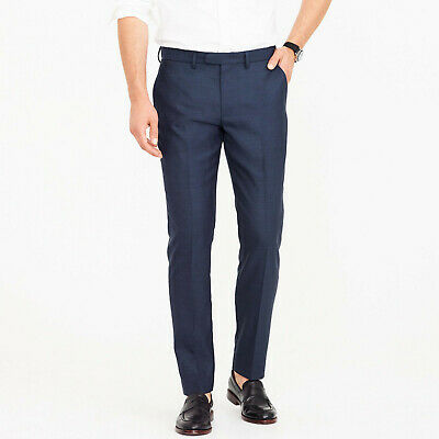 NWT J.Crew Ludlow Classic-fit Pant in Four-season Wool 35/32 Navy H0270