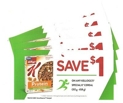 14 x Save $1.00 on Kelloggs Special K Cereal Coups (Canada)