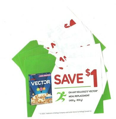14 x Save $1 on Kelloggs Vector Cereal Coups (Canada)
