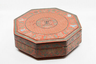 Antique Chinese Laquer Wedding Box, 12 inches wide - 🐘