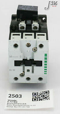 MOELLER DIL00AM-10 WITH Z00-16 CONTACTOR 110-120V COIL 1 PER BUY