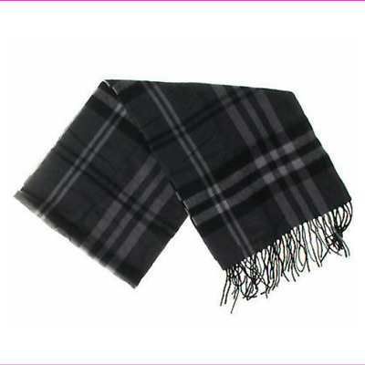 Red//Black Plaid . Enzo Mantovani 100/% Cashmere Scarf in Gift Tube