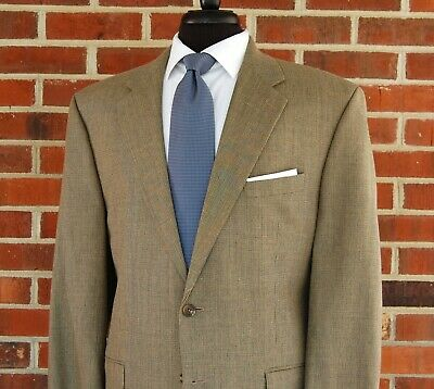 RALPH LAUREN Mens 2 Btn SILK WOOL LINEN Blazer Sport Coat Jacket 44L