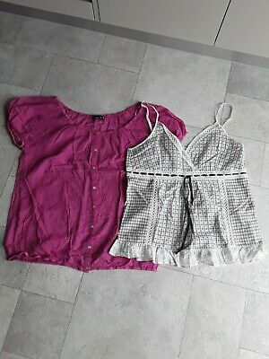 Excellent Used Condition 2x Womens tops, pink-weekend & white-jeans west Size 14
