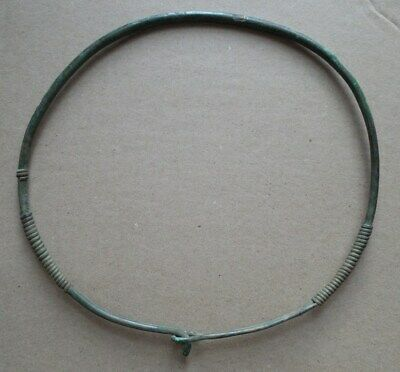 Viking period bronze neck torc decoration