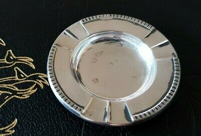 David Andersen 830s mini small ashtray solid silver Norway vintage