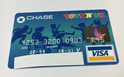 Expired Credit Card For Collectors VISA Toys R Us Card 4 (7031)