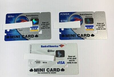 3 Expired Credit Cards For Collectors - Mini Keychain Cards Visa Rare (7033)