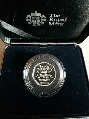 Stock in hand Official UK 2020 Brexit 50p Silver Proof coin