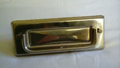 letterbox stainless steel with knocker vintage (1960/70s)