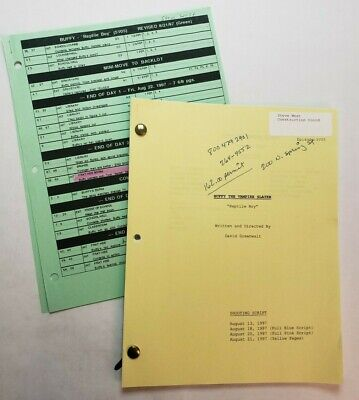 "BUFFY THE VAMPIRE SLAYER / 1997 TV Script, human sacrifices ""Reptile Boy"""