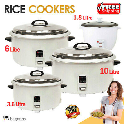 Non Stick Automatic Electric Rice Cooker Food Warmer Cook Steamer Pot 0.8L-10L