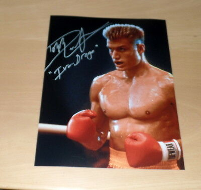Dolph Lundgren, Signed Photo in 7 7/8x9 13/16in (8x10) Print Print