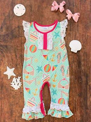 NWT Baby Girls Old Navy Size 0-3 Months Black /& White Elephant /& Dot Rompers