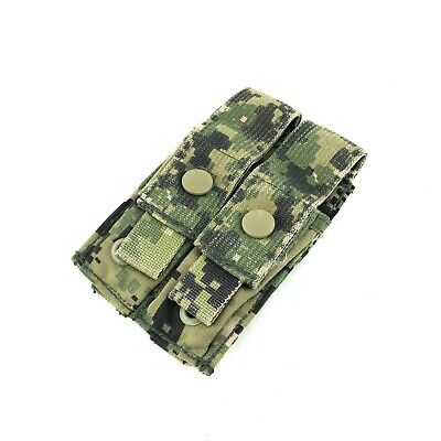Used Eagle Industries AOR2 Double Pistol Mag Pouch Military Flat 2 x 1 MOLLE