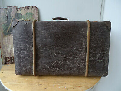 V1821 Old Travel Cases um 1930 ~Vintage~ Classic Car Suitcase with Wooden Strips