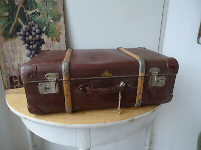 V1844 Old Travel Cases um 1930 ~Vintage~ Classic Car Suitcase with Wooden Strips