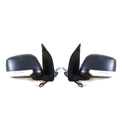 Door Mirrors Black With Led Fit Nissan D40 4Wd Navara S Se Pick-Up Truck 2004-14