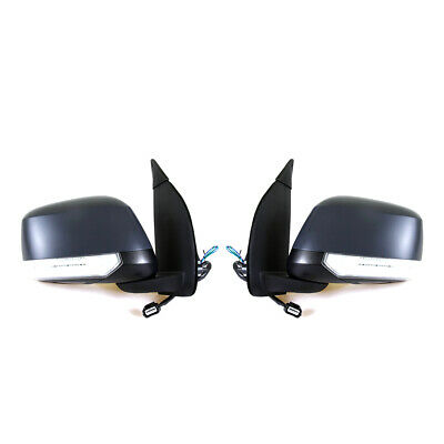 Electric Type Door Mirrors With Led Light Set Fit Nissan D40 Navara Pickup Truck