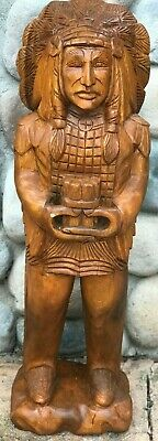 """Cigar Store In-Gin Statue / 40"""" Mahogany Wood Hand Carved In-Gin Statues"""