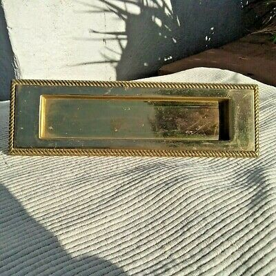 Vintage Heavy Sprung Solid Brass Letter Box