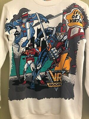 Rare Vr Troopers Vtg 1994 Double-Sided Long Sleeve Crewneck (Youth L/Adult S/M)