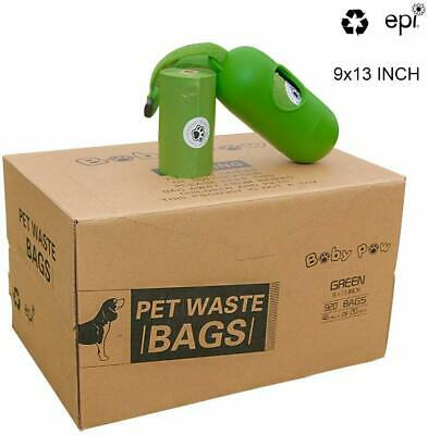 """BABY PAW Pet Poop Bags 920 Pcs Dog Waste Bags 9X13"""" (46 rolls of 20 each) (I2)"""