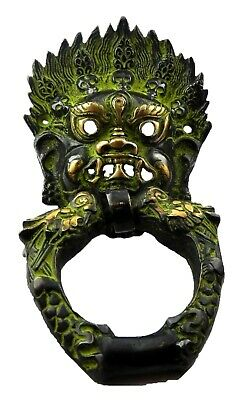 Bhairav Shape Antique Vintage Finish Handmade Brass Door Knocker Home Decor