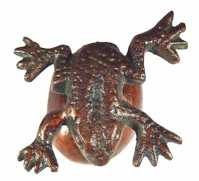 Frog Todd Shape Handmade Brass Paperweight Ring Holder Table Home Decor Gift
