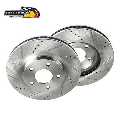 Front Drill And Slot Brake Rotors /& Ceramic Brake Pads For Buick Chevy Olds GTO