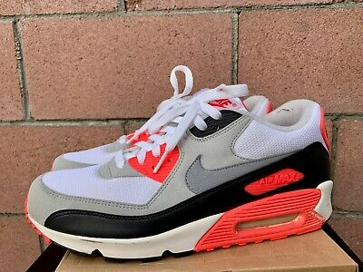 NIKE AIR MAX 90 Infrared Black Grey White Mens Size 11 Rare