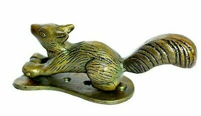 Squirrel Shape Vintage Style Handmade Brass Door Knocker Pull Wall Home Decor