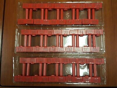 30 Numbered Red Snap Tracker Container Bolt Security Seals (Cargo) High-Security