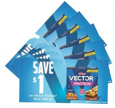 14 x Save $1.00 on Vector Protein Bars Mar 31 2020 Coups (Canada)
