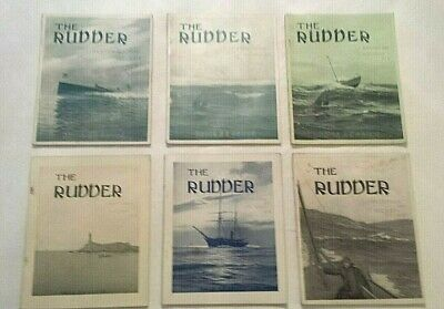 Antique Lot (6) THE RUDDER Magazine 1910-1911 Yachting Motor Boating Sailing