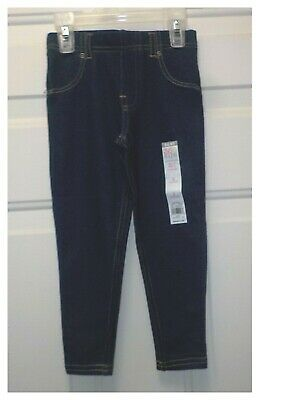 365 Kids Girls Denim Full Length Leggings Size 4 New With Tags