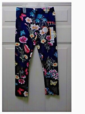 NEW Girls Wonder Nation Cotton Knit Flower Butterfly Leggings Size XS, S & M