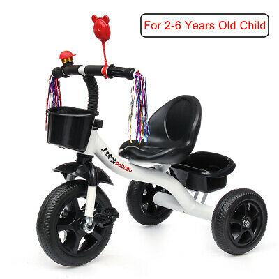 White Baby Toddler Walker Kids Trike Tricycle Bike Children Bicycle 3 Wheels