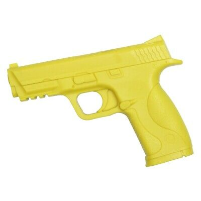 "7/"" YELLOW RUBBER TRAINING GUN Police Dummy Non Firing Real And Look Feel"