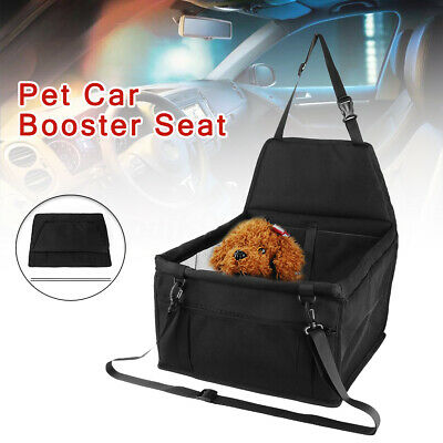 Pet Car Booster Seat Puppy Cat Dog Carrier Travel Protector Safety Basket Black