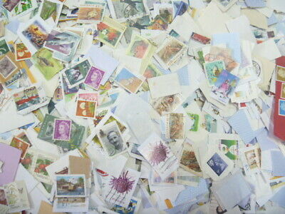 Australia On Paper Kiloware Mixture + High value stamps 2500g for collection