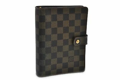 Authentic Louis Vuitton Damier Agenda MM Day Planner Cover R20701 LV 71714