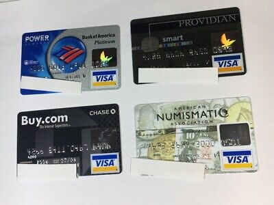4 Expired Credit Cards For Collectors - Visa Random Collection Pulls Lot (7040)